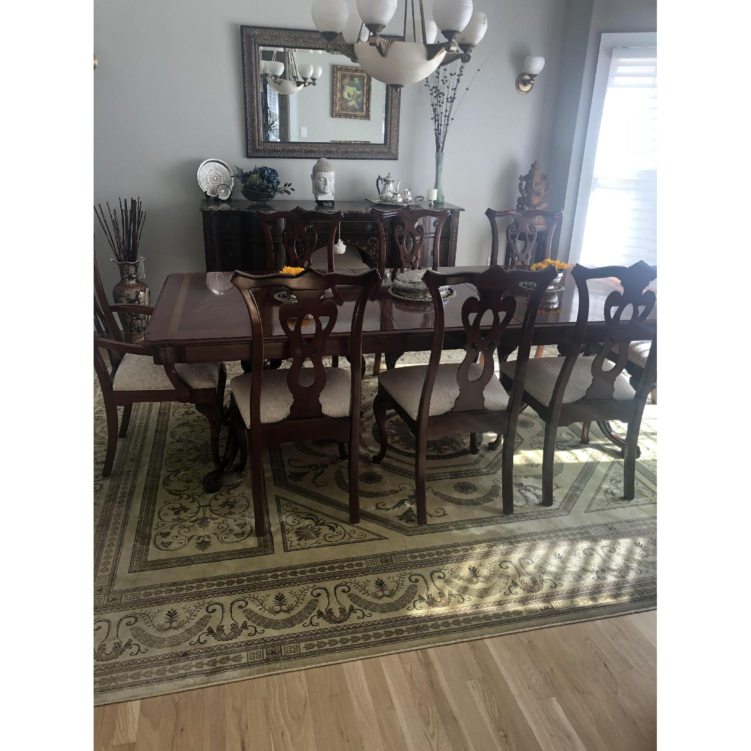 Thomasville Mahogany Dining Table w/ 8 Chairs - image-2