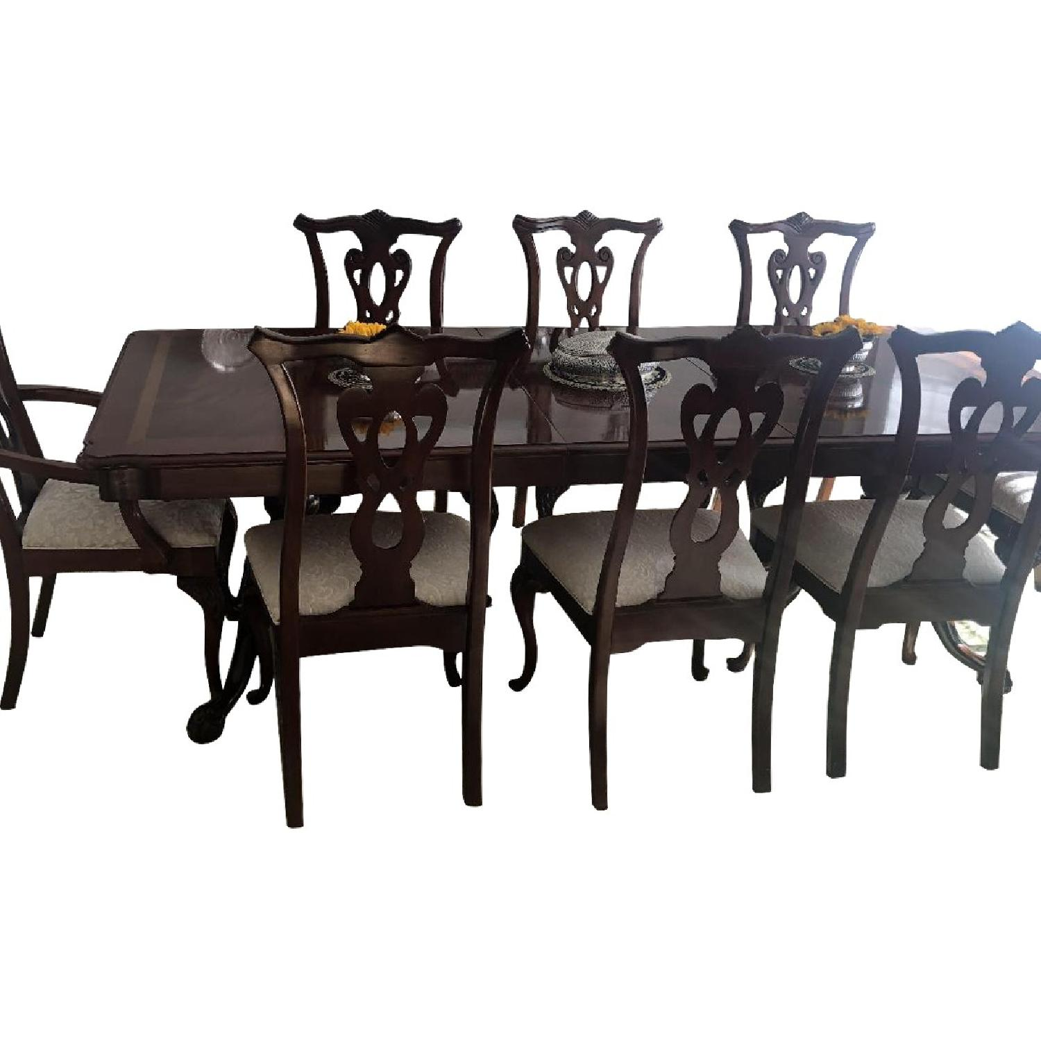 Thomasville Mahogany Dining Table w/ 8 Chairs - image-0
