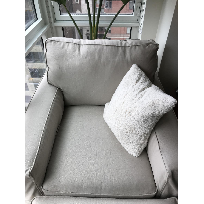 Pottery Barn PB Comfort Square Grand Arm Chair & Ottoman - image-3