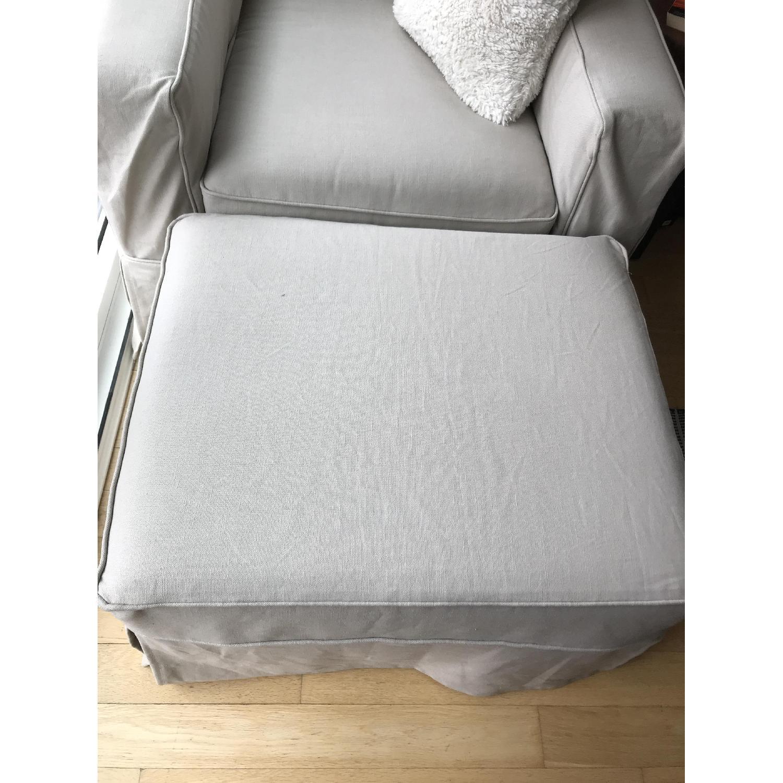 Pottery Barn PB Comfort Square Grand Arm Chair & Ottoman - image-5