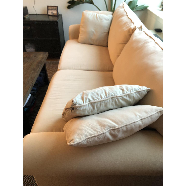 Jennifer Convertibles Beige Fabric Sofa - image-1