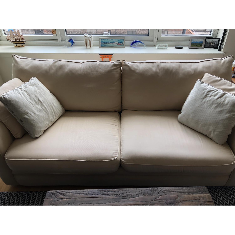 Jennifer Convertibles Beige Fabric Sofa - image-2