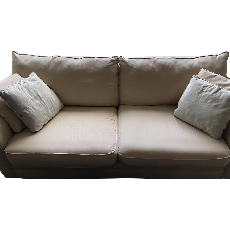 Jennifer Convertibles Beige Fabric Sofa - image-6