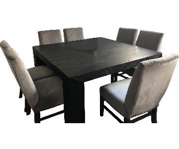 Restoration Hardware Square Oak Dining Table