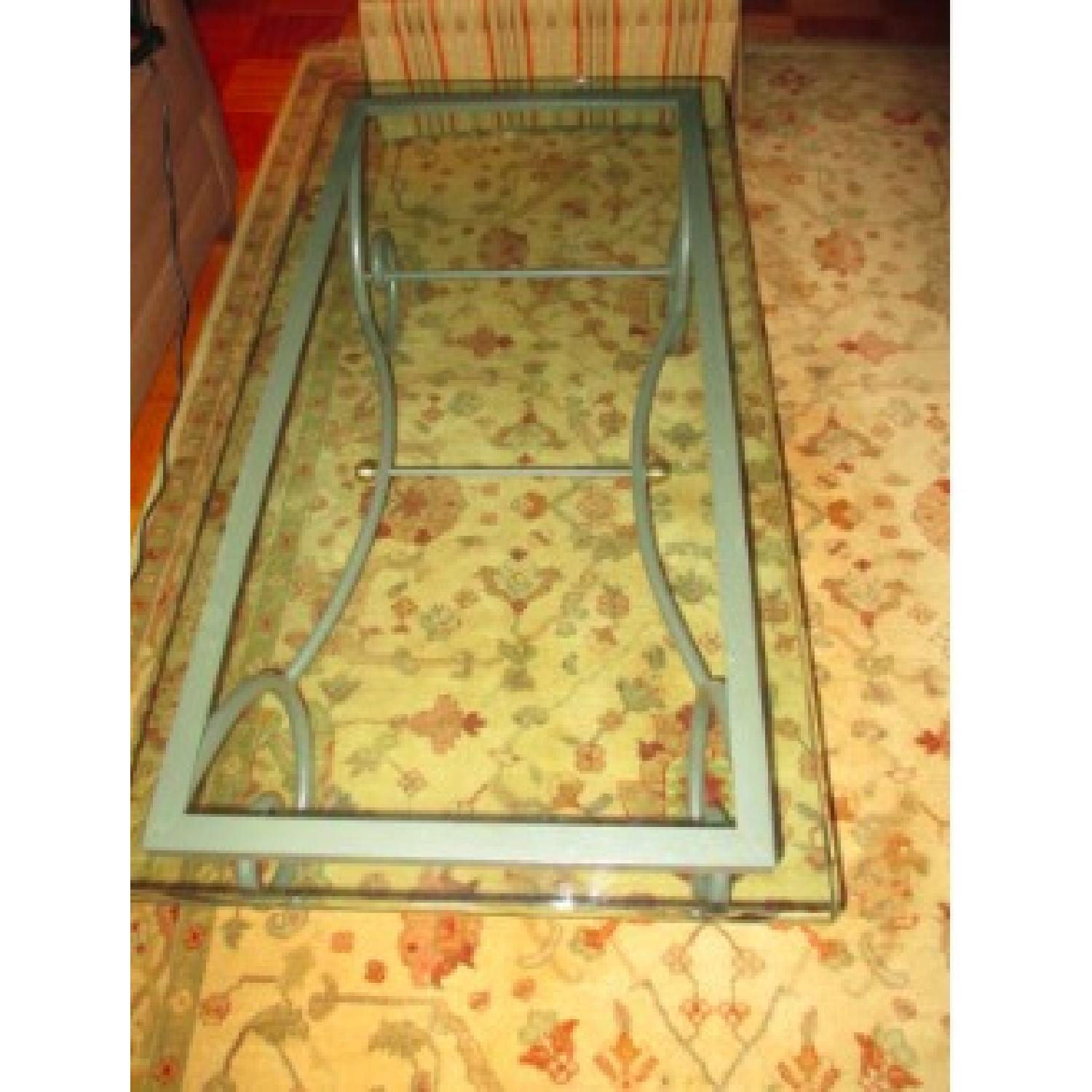Charleston Forge Glass/Metal Coffee Table - image-2