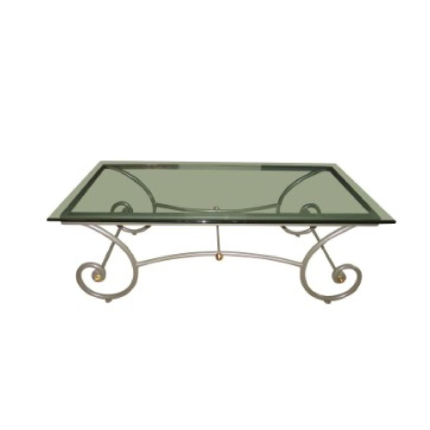 Charleston Forge Glass/Metal Coffee Table - image-0
