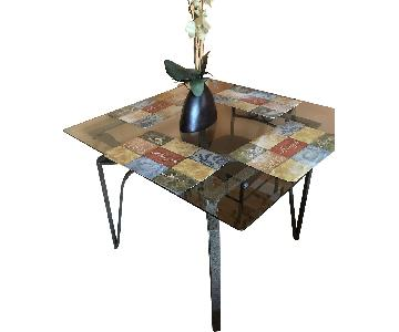 Raymour & Flanigan Glass Dining Table