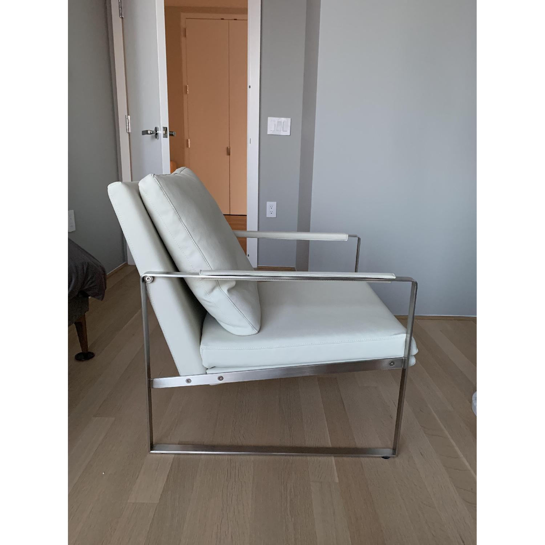SohoConcept Zara Armchair in white PPM Leather - image-1