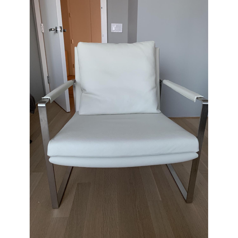 SohoConcept Zara Armchair in white PPM Leather - image-2