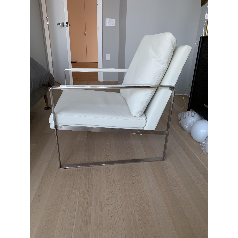 SohoConcept Zara Armchair in white PPM Leather - image-3