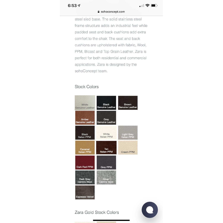 SohoConcept Zara Armchair in white PPM Leather - image-6