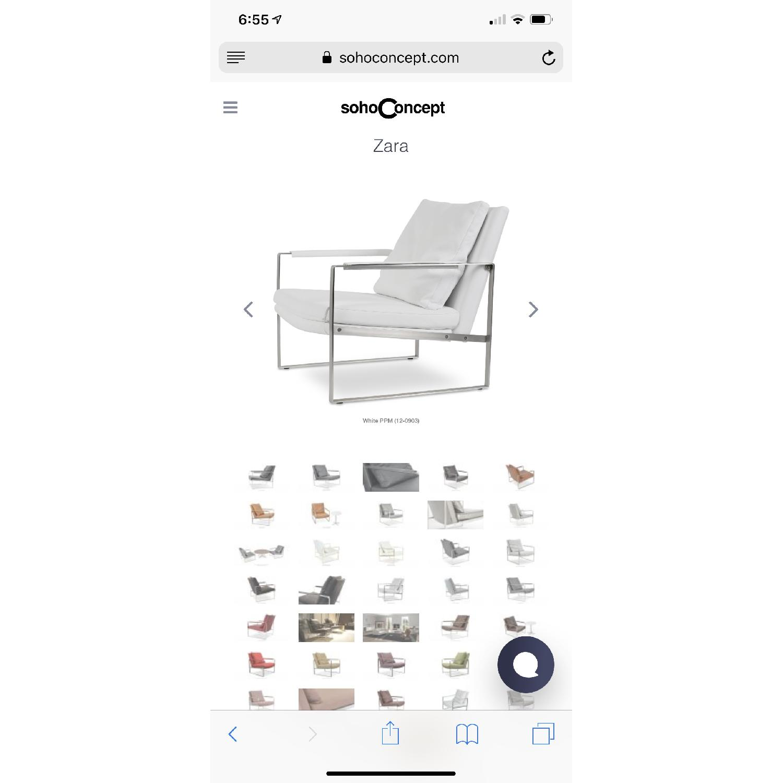 SohoConcept Zara Armchair in white PPM Leather - image-7