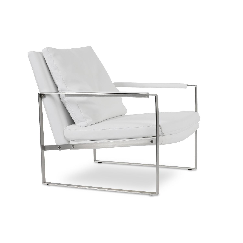 SohoConcept Zara Armchair in white PPM Leather - image-0
