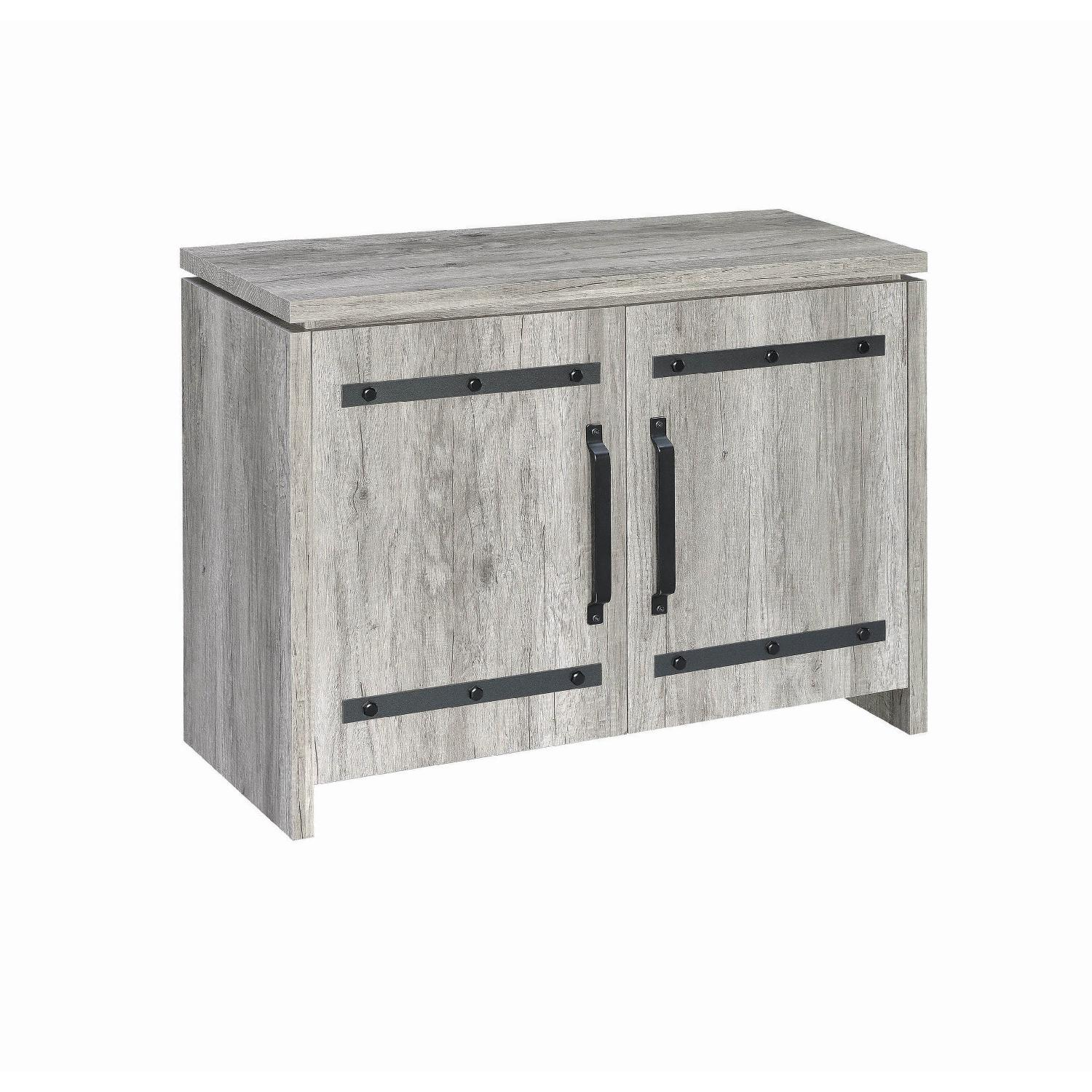 Storage Cabinet w/ Black Metal Accent - image-2