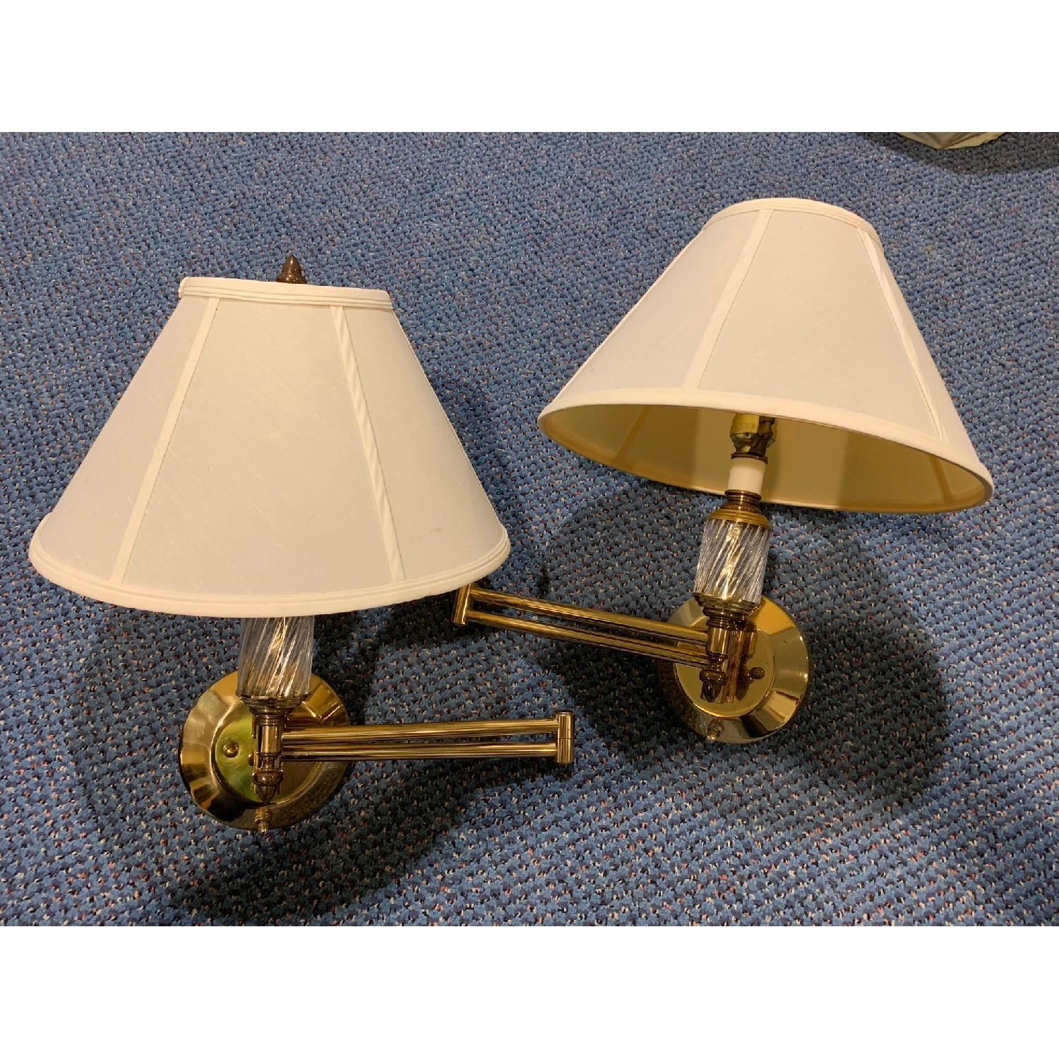 Brass Swing Arm Wall Lamps - image-3