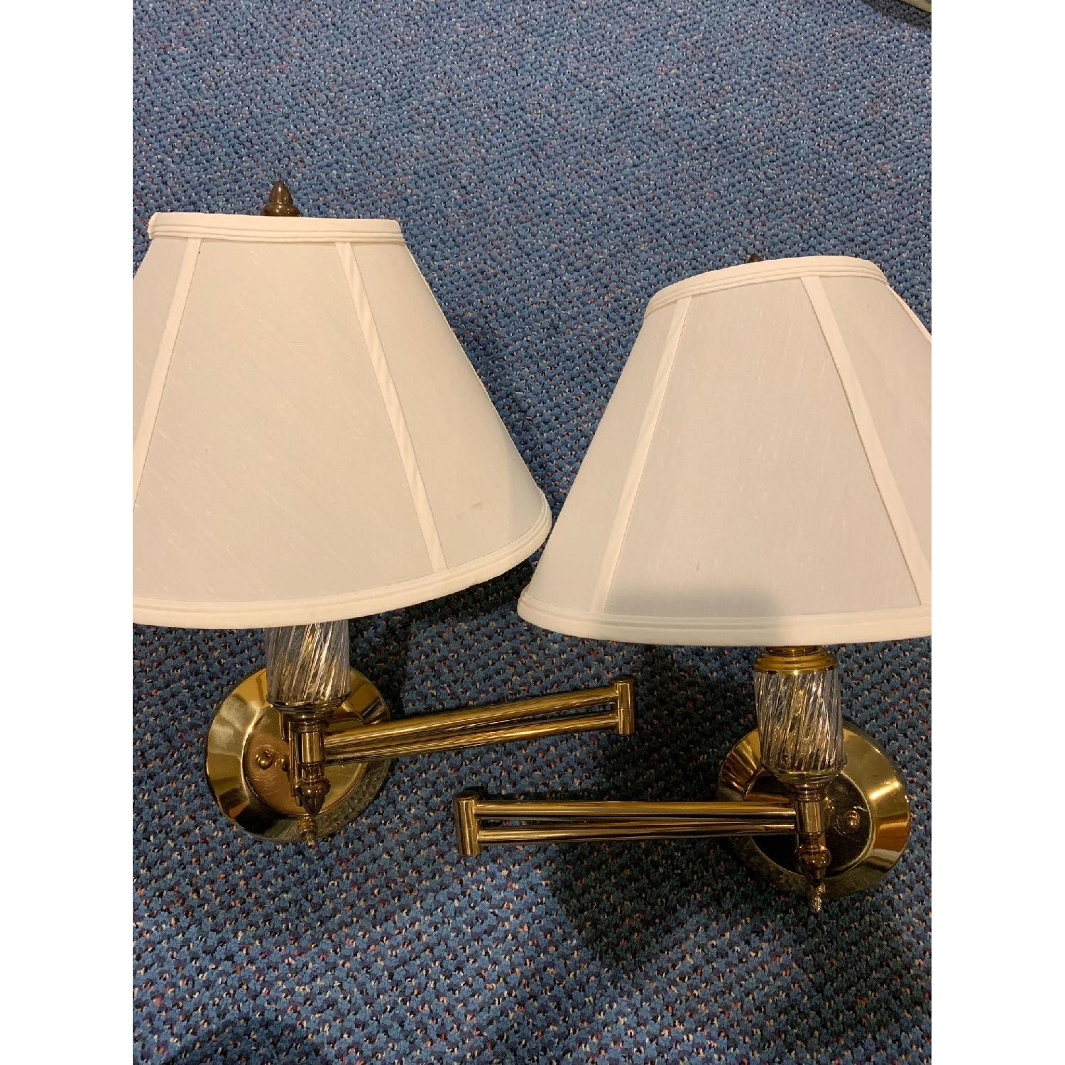 Brass Swing Arm Wall Lamps - image-4