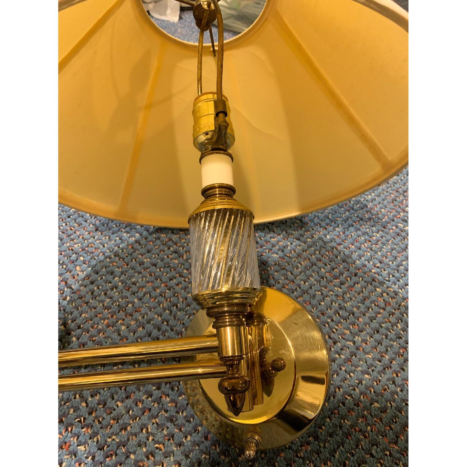 Brass Swing Arm Wall Lamps - image-5