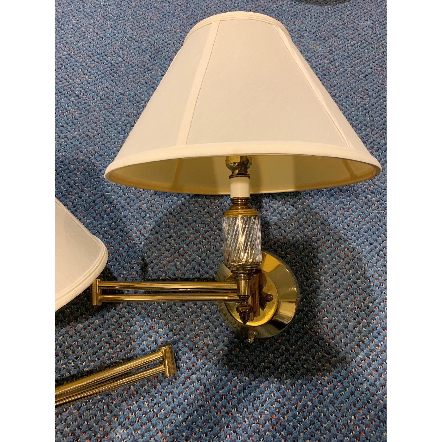 Brass Swing Arm Wall Lamps - image-6