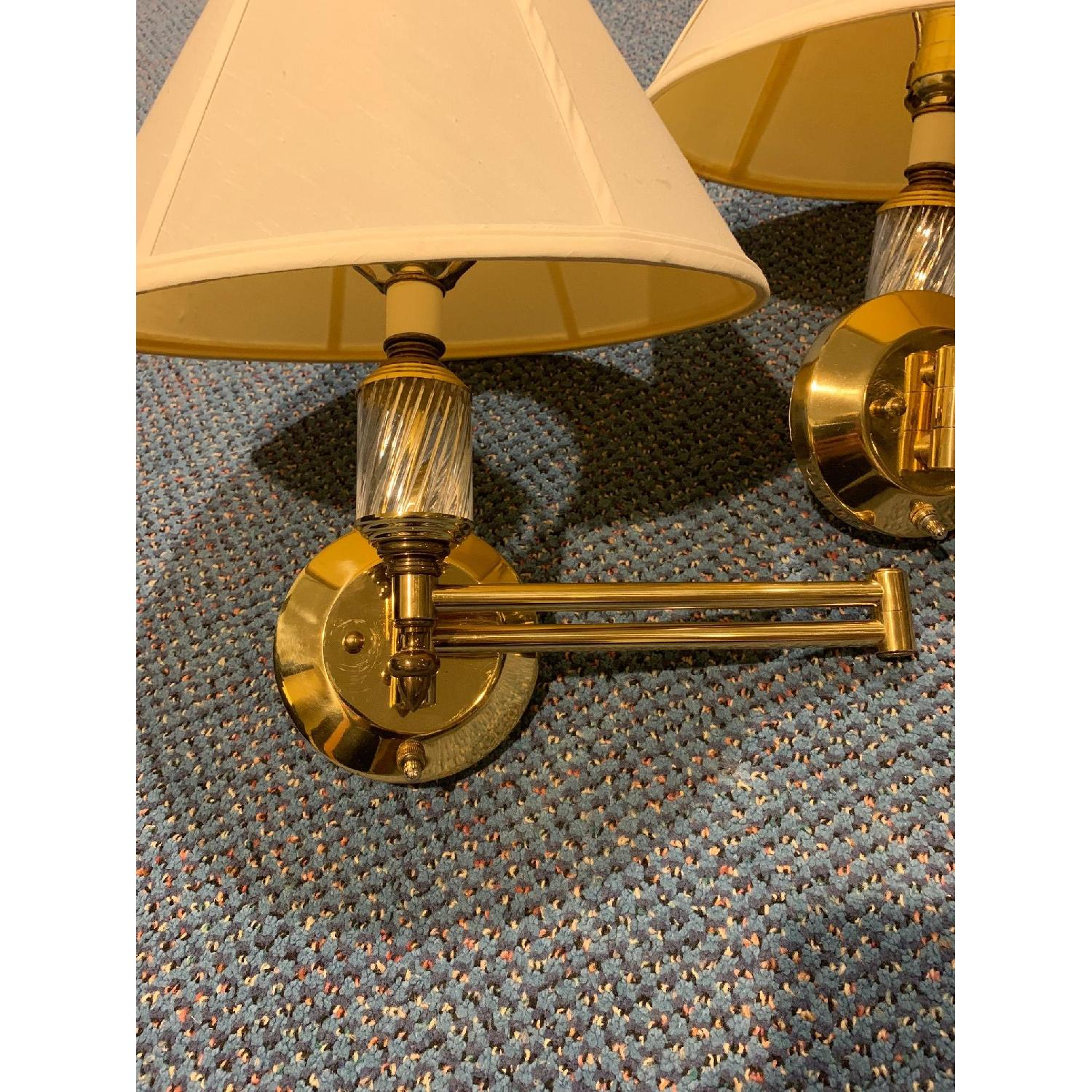 Brass Swing Arm Wall Lamps - image-7