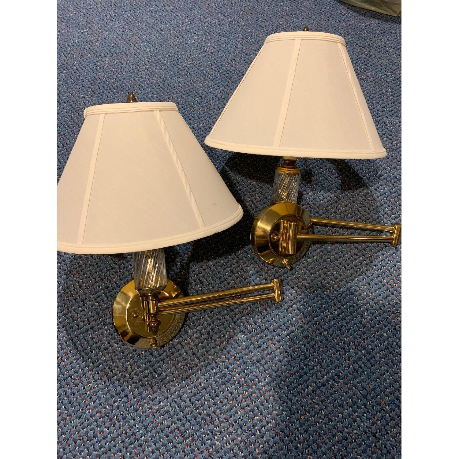 Brass Swing Arm Wall Lamps - image-8