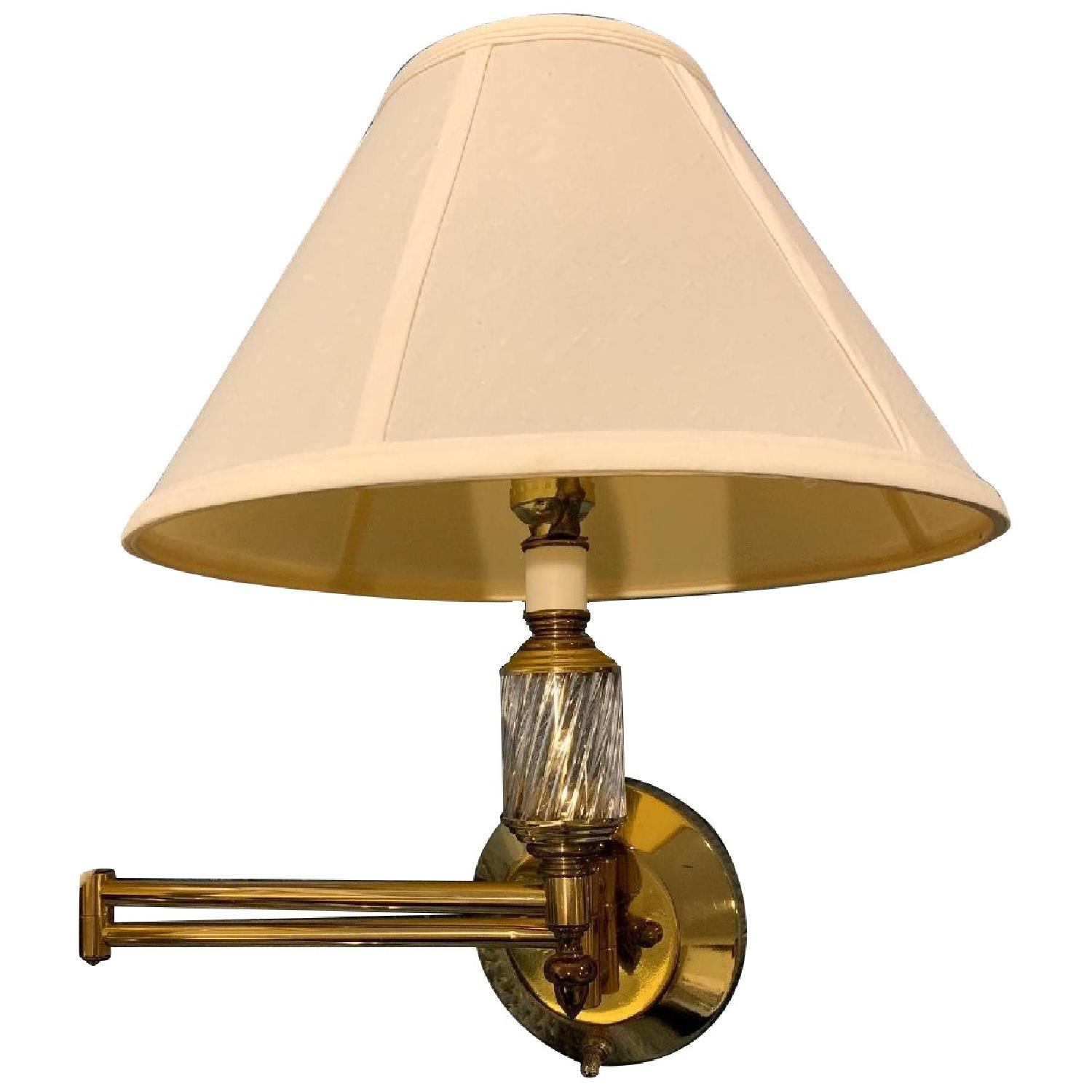 Brass Swing Arm Wall Lamps - image-0