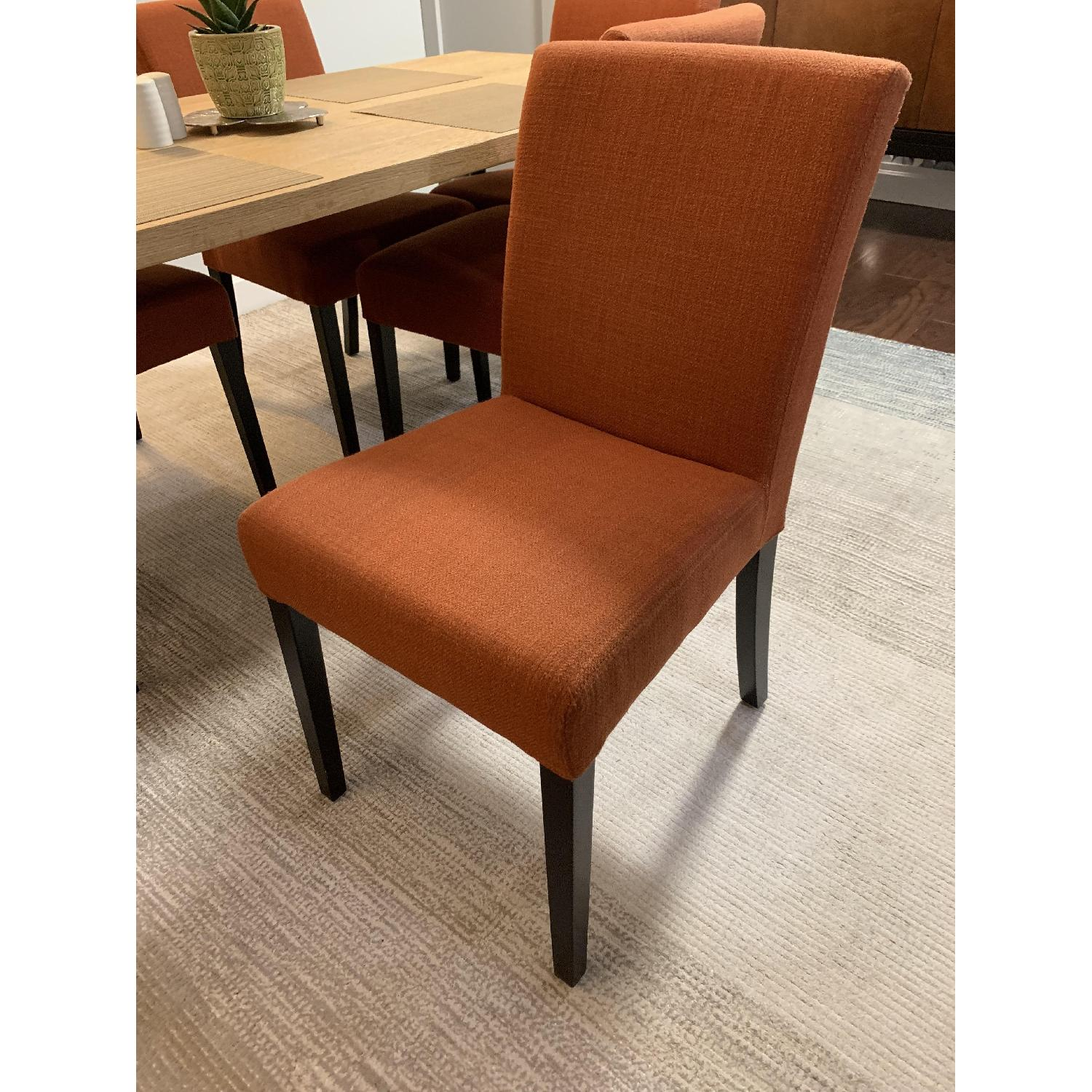 Crate & Barrel Lowe Persimmon Upholstered Dining Chairs ...