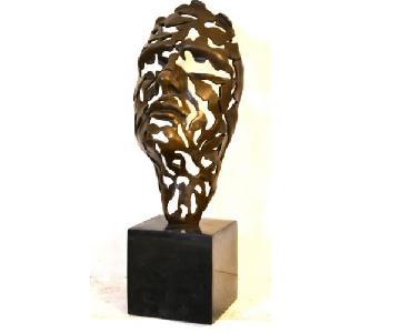 Salvatore Dali Bronze Face Burst