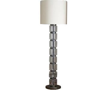West Elm Stacked Glass Cylinder Floor Lamp