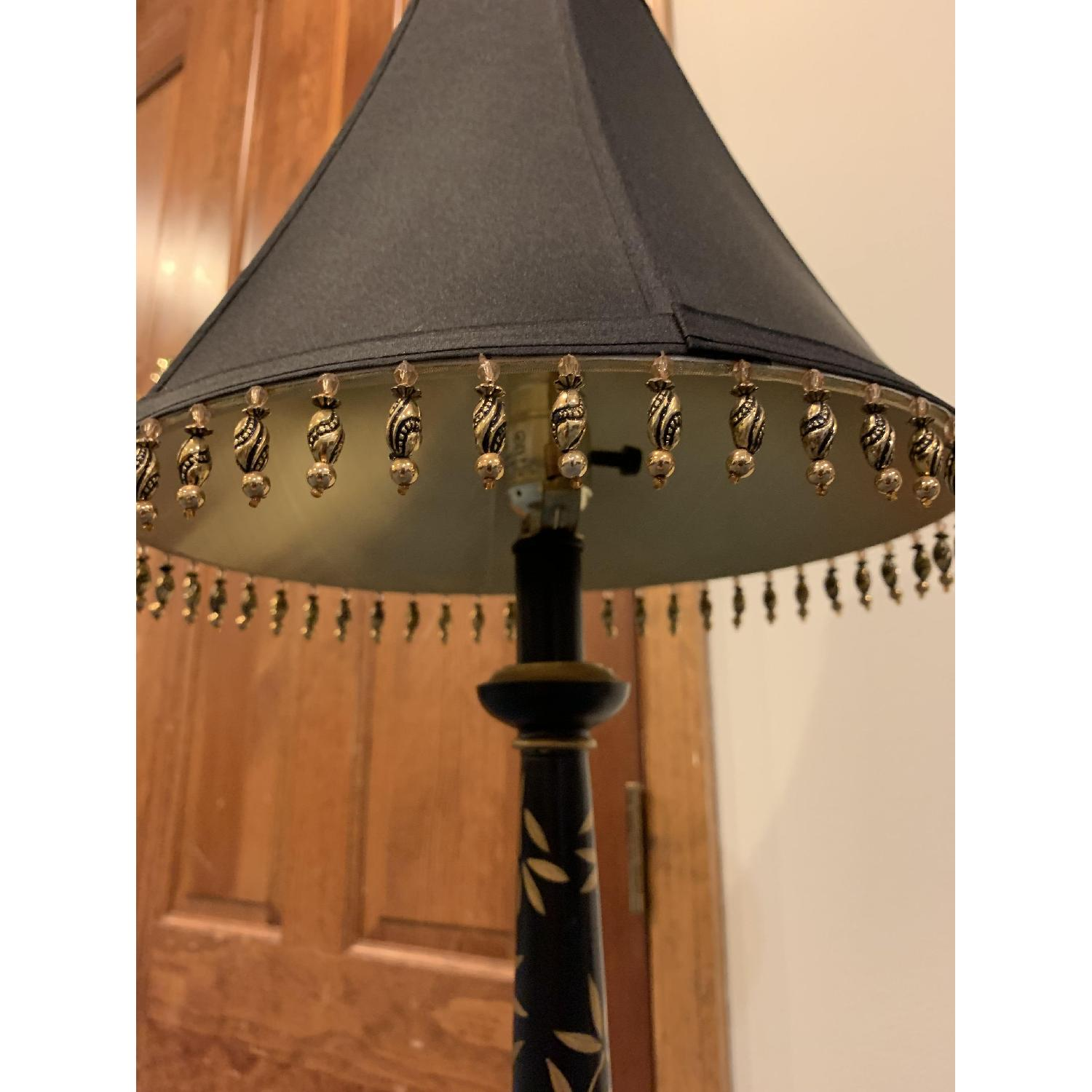Black & Gold Painted Table Lamp - image-2