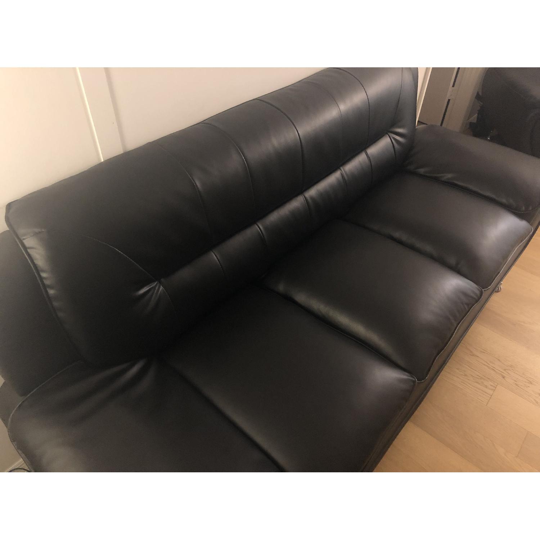 Mina Modern Black Leather Sofa & Chair - image-4