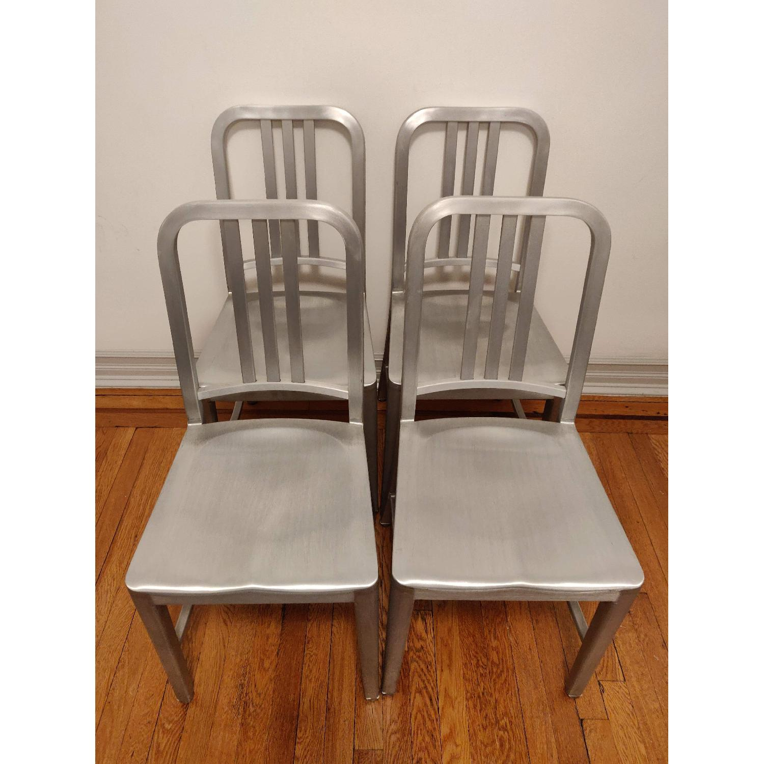 Vintage 90s Emeco Navy Chairs - image-1