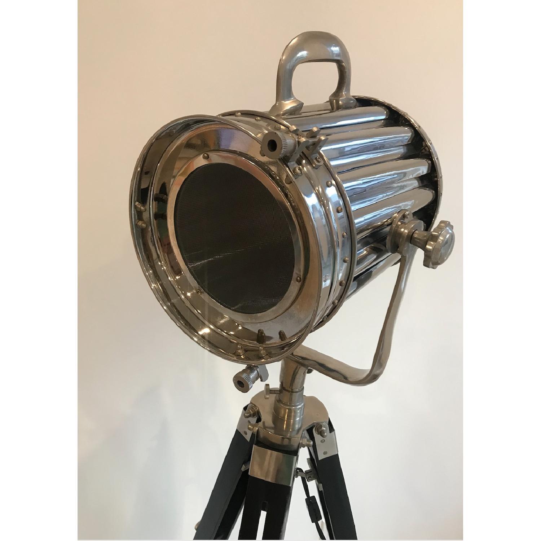 Modern Hollywood Floor Lamp w/ Black Tripod Stand - image-1