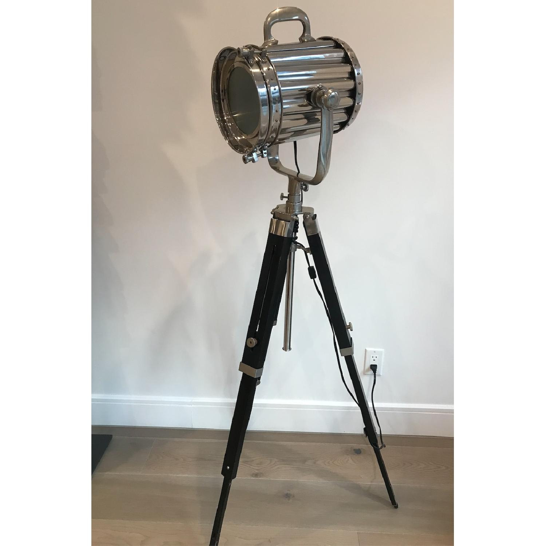 Modern Hollywood Floor Lamp w/ Black Tripod Stand - image-3