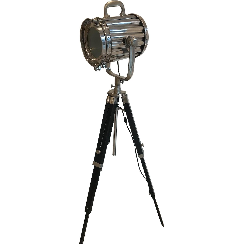 Modern Hollywood Floor Lamp w/ Black Tripod Stand - image-0