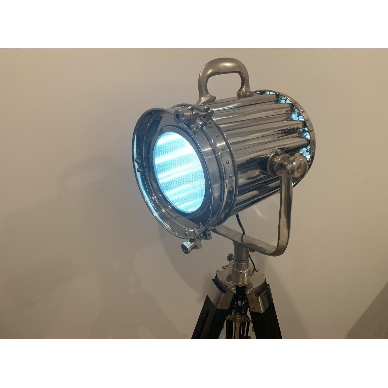 Modern Hollywood Floor Lamp w/ Black Tripod Stand - image-4