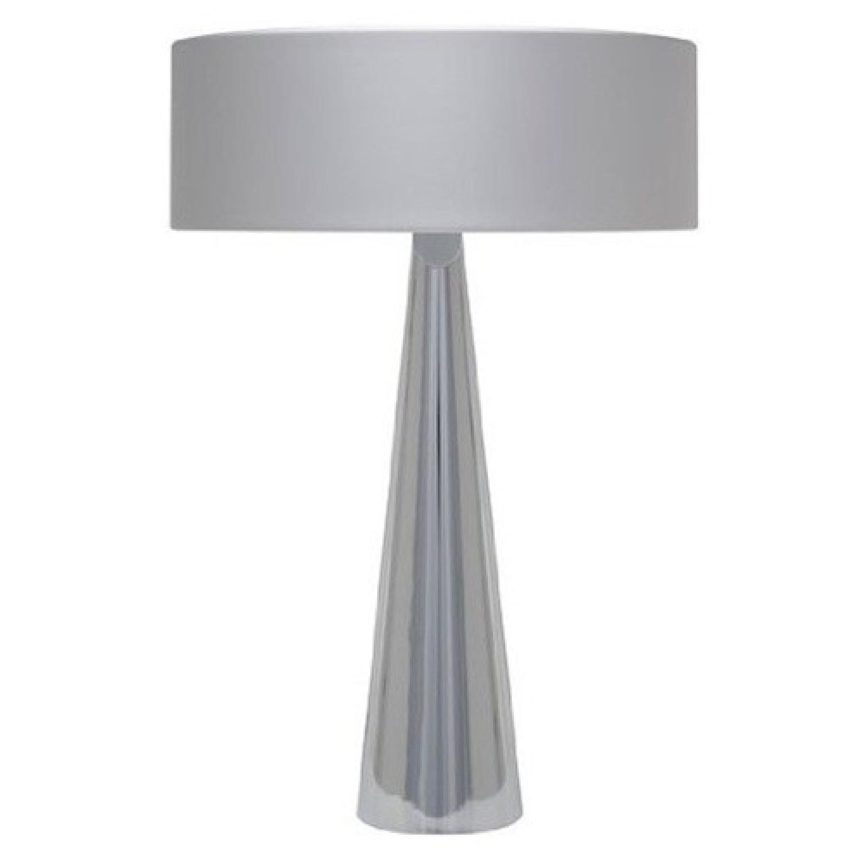 Nuevo Kasa Silver Table Lamp w/ Light Bulbs - image-0