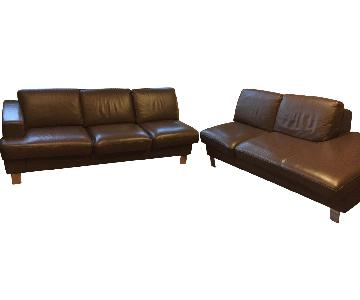 Gamma Arredamenti 2 Piece Italian Leather Sectional Sofa