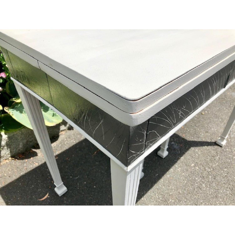 Mid Century John Stuart Directoire Style Gray Console Table - image-1