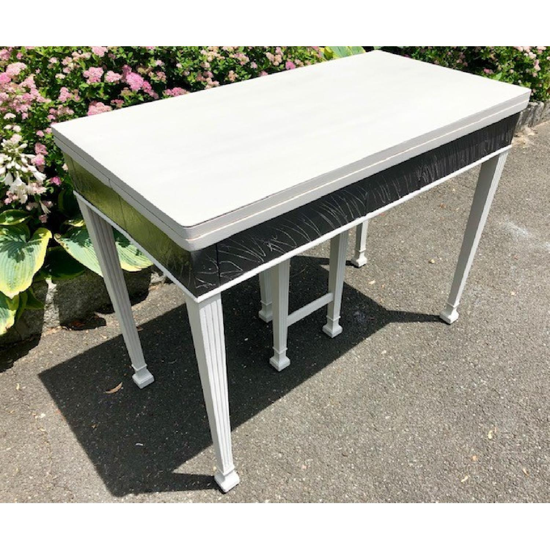 Mid Century John Stuart Directoire Style Gray Console Table - image-2