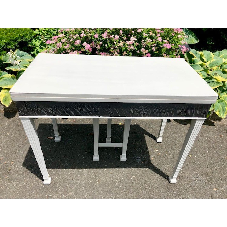 Mid Century John Stuart Directoire Style Gray Console Table - image-3