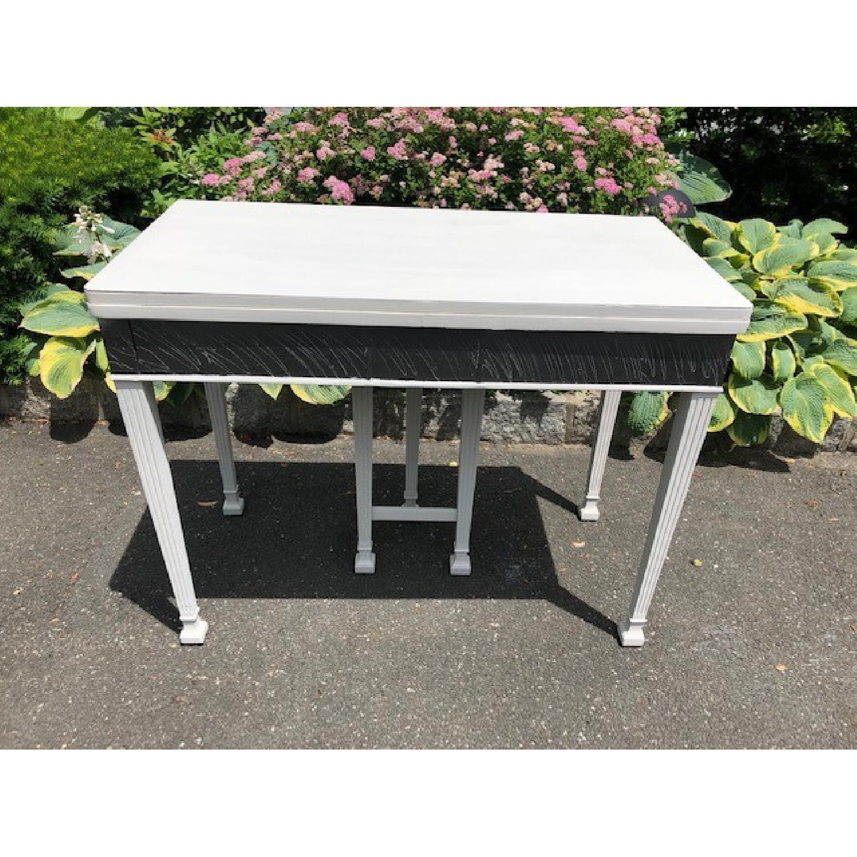 Mid Century John Stuart Directoire Style Gray Console Table - image-4