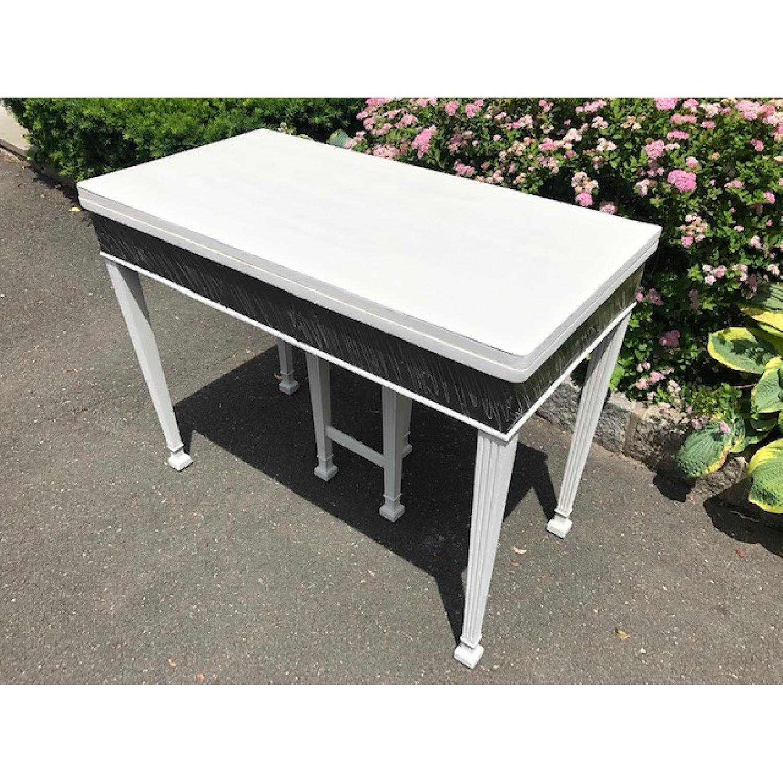 Mid Century John Stuart Directoire Style Gray Console Table - image-5