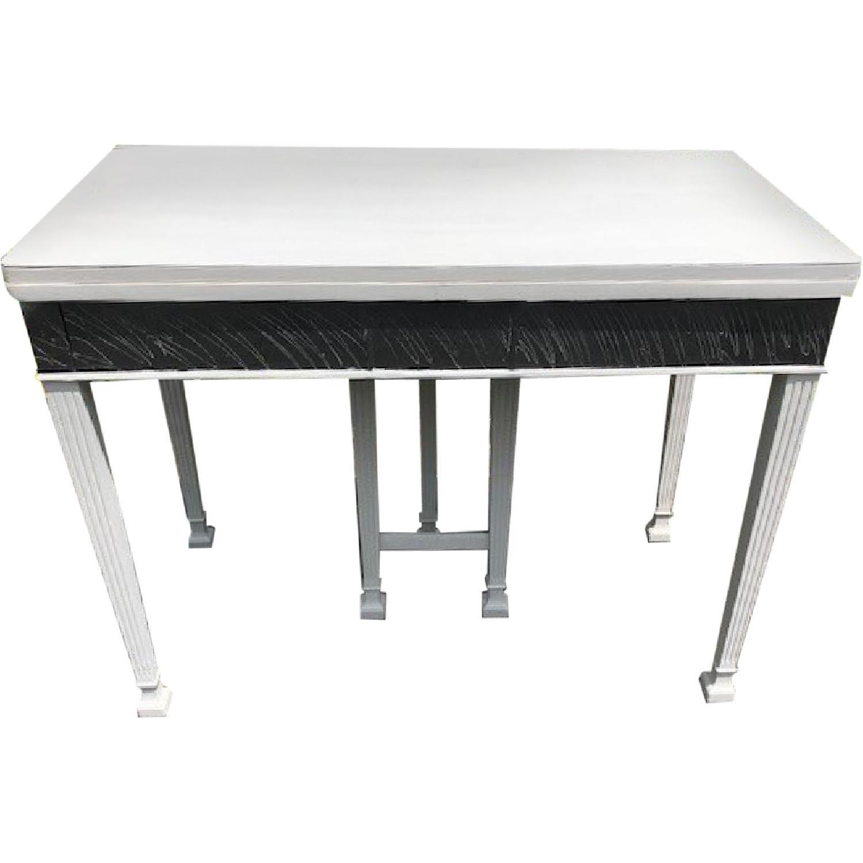 Mid Century John Stuart Directoire Style Gray Console Table - image-0