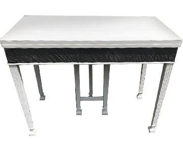 Mid Century John Stuart Directoire Style Gray Console Table
