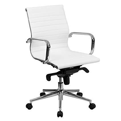 Medium Back Office Chair in White