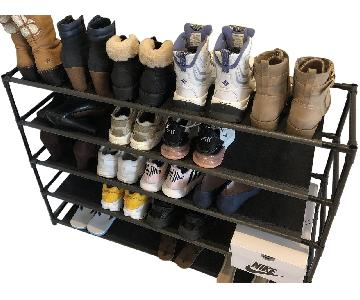 Black Metal 5-Tier Shoe Rack