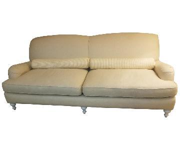 Serena & Lily Beige Upholstered Sofa