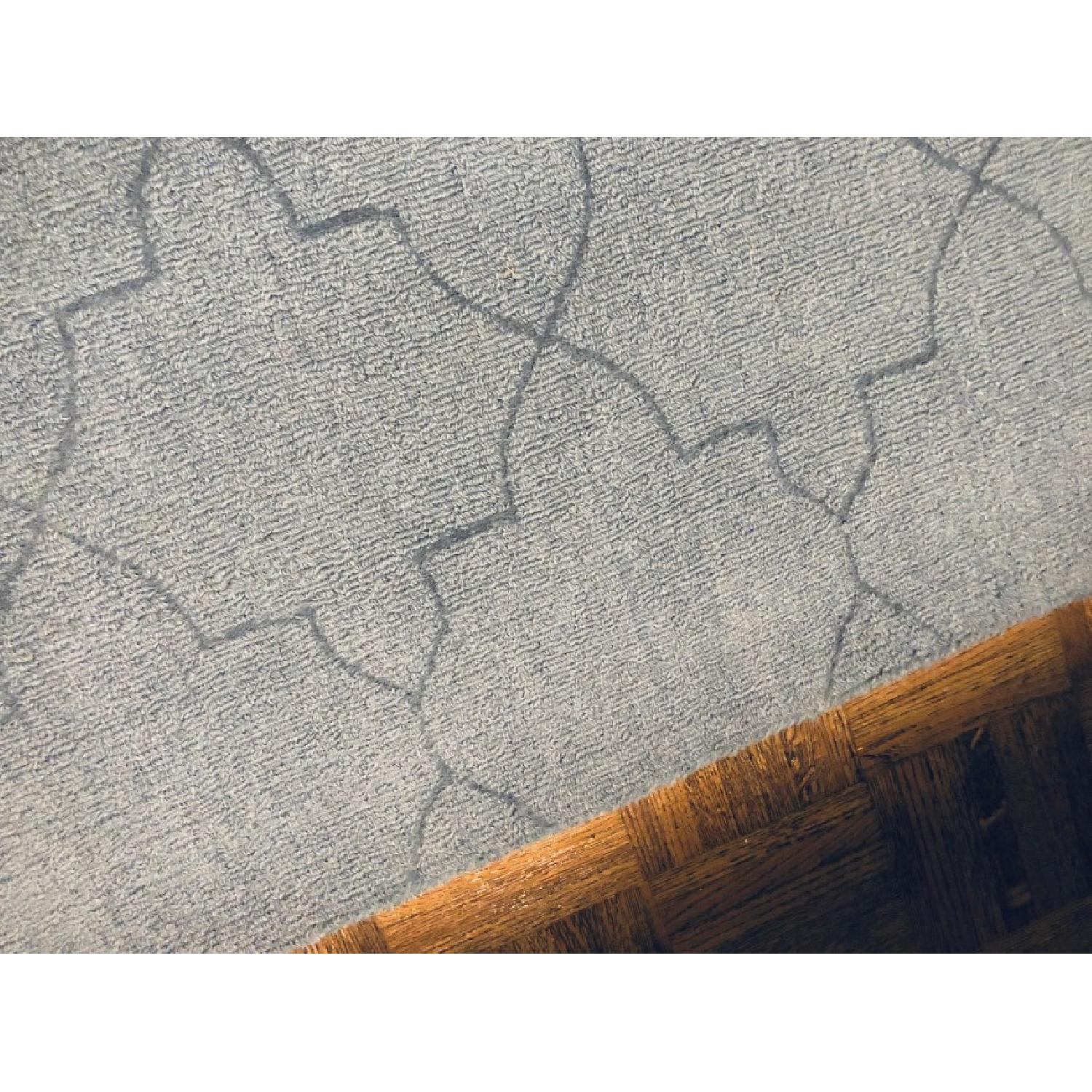 Surya Etching Blue Wool Textured Rug - image-3