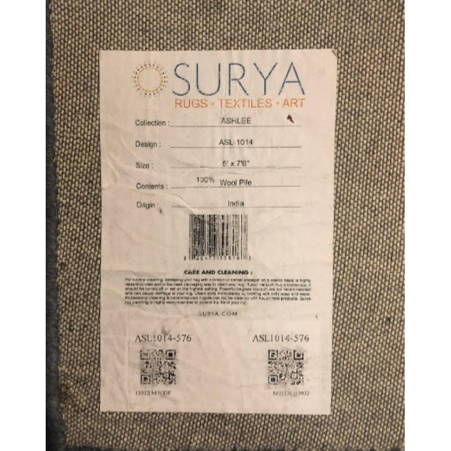 Surya Etching Blue Wool Textured Rug - image-4