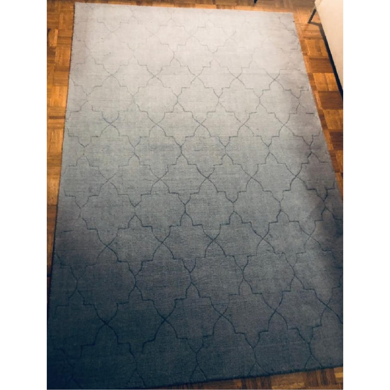 Surya Etching Blue Wool Textured Rug - image-5